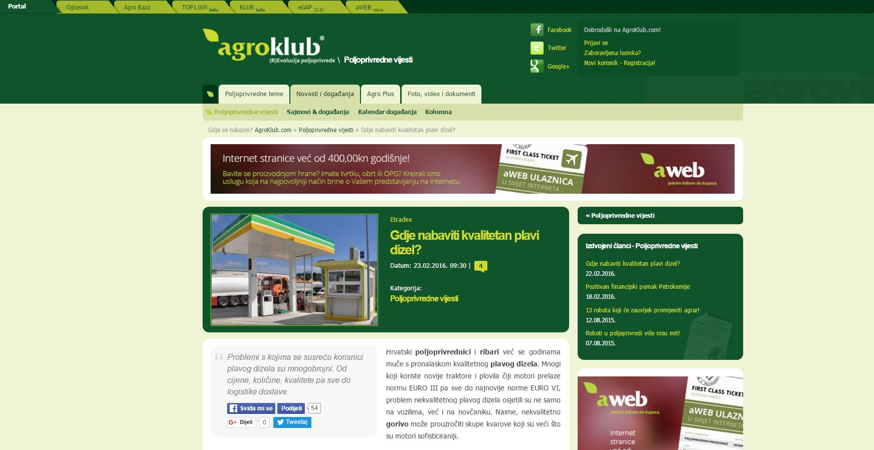 Etradex-Agroklub partner